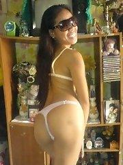 Mixed Filipina girl has very nice black ass