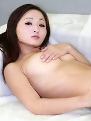 Chinese girl with doe eyes has nice pair of boobs