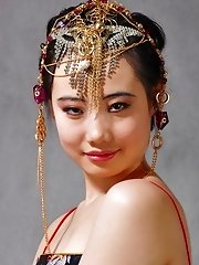 Sweet Chinese girl in traditional costume