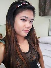 Wild Filipina teen screwed hard in ass then creampied