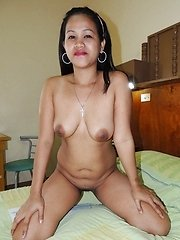 Amateur Filipina babe with big hooters gets fucked on camera