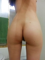 Horny Asian cocktease strips and spreads